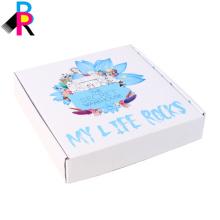 Caja de papel de impresión corrugada del color del zapato del regalo al por mayor de encargo del envío