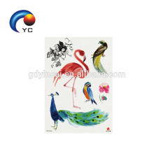 Factory Price Flamingo Animal Tattoo Sticker with Reasonable Price Body Painting Supply
