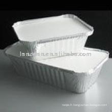 Rectangle feuille conteneur pour aliments