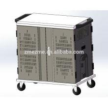 ZMEZME 36 bays ipad laptop tablet sync charging cabinet & cart
