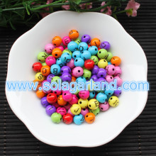 8MM Round Colorful Acrylic Mixed Letter/Alphabet Beads Charms DIY Pick