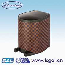 Leather automatic garbage can