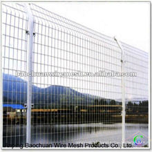 Powder coated bilateral white wire fence