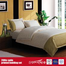 100%хлопок 200TC Сатин набивной комплект постельных принадлежностей для отелей