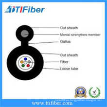 12 Cores Cable de fibra óptica al aire libre de un solo modo Figura 8 cable autoportante GYXTC8S