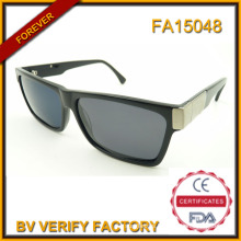 Wholesale China Fashionable Polarized Acetate Sunglasses with Metal Deco