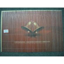 (BC-M1028) Ручная натуральная бамбуковая прямоугольная теплоизоляционная подставка