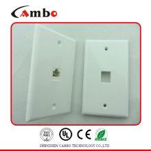 China Manufacturer AV Faceplate White Color 86 X 86mm 2 Port RJ45 Faceplate