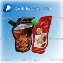 Costume levante-se o saco plástico do vinho do refrigerador, sacos líquidos, sacos do bico