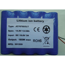 14.8V 12.5Ah low temperature lithium battery pack