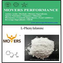 Acides aminés de catégorie comestible d'approvisionnement d'usine L-phénylalanine