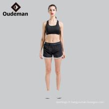 Fournir le soutien-gorge de yoga complet de polyester / spandex et court en stock