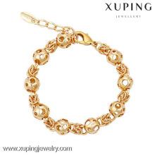 73945 Xuping gros 18k plaqué or Bracelet, perles creuses généreux Bracelet femme