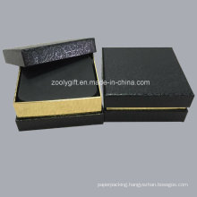 Black / Gold Textured Paper Box Packing for Coasters