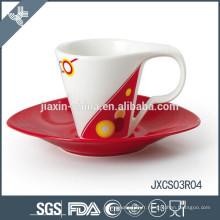 Tasse à café et soucoupe ovale en porcelaine Cappuccino, nouvelle coupe design, petite tasse