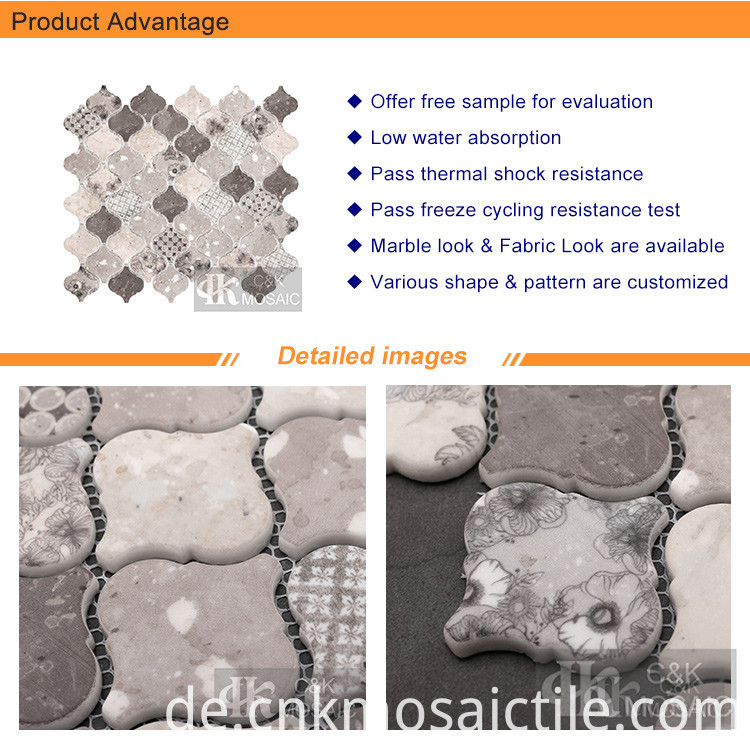 Arabesque Flower Pattern Mosaic Tiles (2)