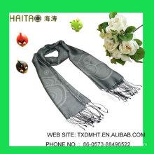 LT Grey Jaquard bufandas para señoras