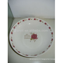 Hot Selling Variable Size Round Romantic Rose&Rose Circle Decal Dishes/Desserts Porcelain Plates
