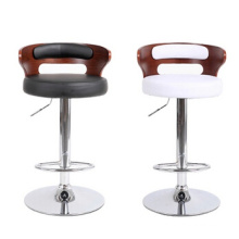 Popular Antique Design Modern China Bent Wood Bar Stool with PU Leather, Stool Bar