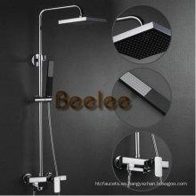 Conjunto montado en la pared de lujo del grifo de la ducha del cuarto de baño (Q12010)