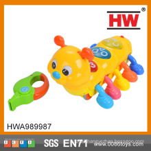 Funny baby toys sound control animal toy Lovely worm toy