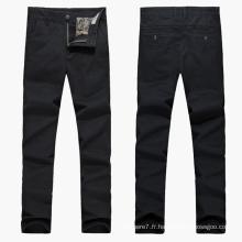 Pantalon de costume en coton stretch décontracté pour hommes
