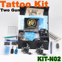 Nuevo profesional de la máquina de tatuaje profesional kit con 2 armas
