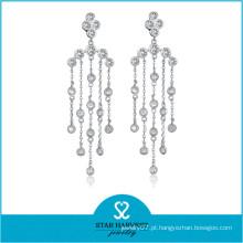 Jóia de pedra preciosa por atacado à moda elegante do ródio da prata (E-0258)