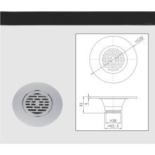 Desagüe de ducha de latón de flujo rápido de ducha y drenaje de ducha de latón