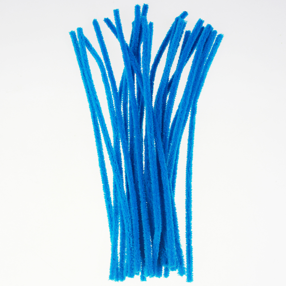 Hand craft Chenille Stem for kids DIY blue assorted