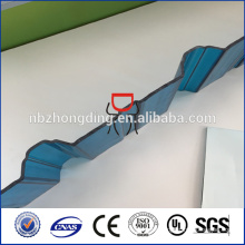 ISO CE certification UV polycarbonate corrugated sheet