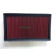 K & N Customed Panel Performance Filtro de aire Auto Parts Rojo / Negro