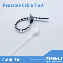 Brida para cables reutilizable tipo cordón