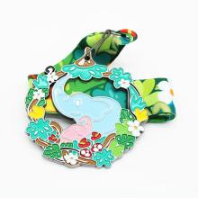 Design criança animal fofo desenho elefante medalha
