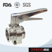 Stainless Steel Handle Clamped Food Processing Butterfly Valve (JN-BV2001)