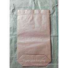 Bolsa de papel de Kraft de la parte inferior de la costura del polvo de carburo de silicio reproducida