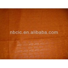 embossed sofa fabric 100%polyester bonded
