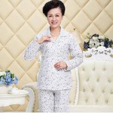 Printed Warm Cotton Women's Pyjama suit with long sleeves