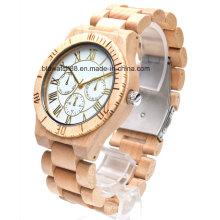 Best Wood Chronograph Watch Multifunctional Wooden Chrono Watches for Men