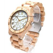 Лучшие деревянные часы хронограф Многофункциональный деревянный хронограф часы для мужчин