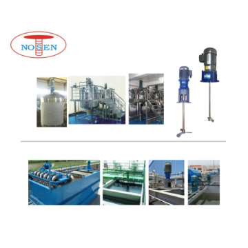 Electric liquid mixer for water treatment