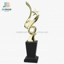 Venta al por mayor Aleación de encargo de la artesanía, trofeo del metal de la forma de la estrella