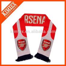 Трикотажные акриловые шарф футбол с кисточкой