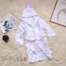 Albornoz para niños / dormir con capucha usar bata de baño blanca pura