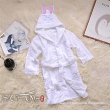 Kids bathrobe / hooded sleep wear pure white bath robe