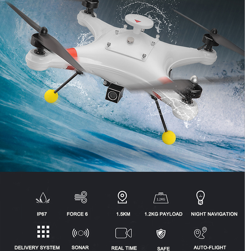 Fishing Drone Underwater