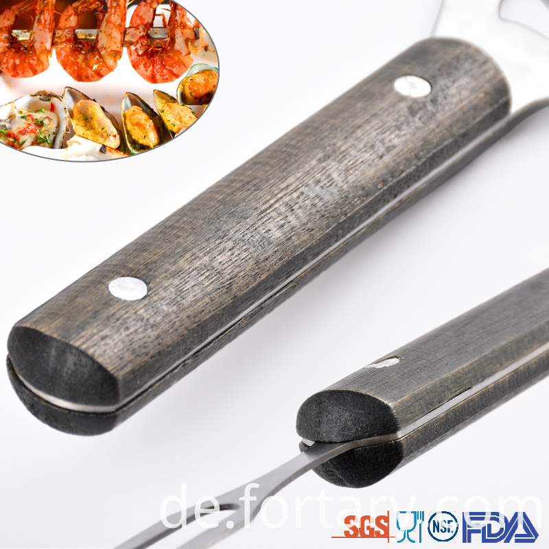 Black handles Bbq Tools