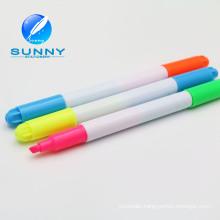 2015 Hot Sale Multi Colored Double Ended Highlighter Marker Pen, Felt Tip Highlighter Marker