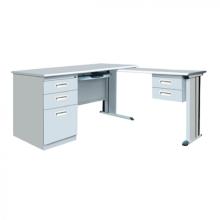 Bureau en acier de bureau moderne de meubles de bureau avec des tiroirs
