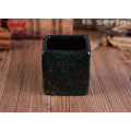 Square Votive Candle Holder with Reactive Finish